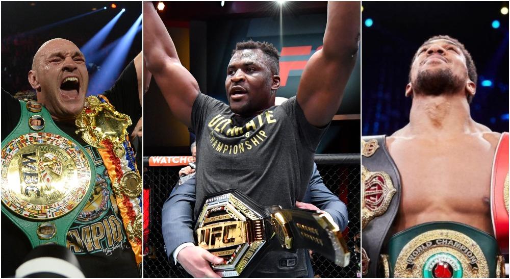Tyson Fury, Francis Ngannou, Anthony Joshua, © Joe Camporeale, Jeff Bottari US Sport TODAY, Instagram @anthonyjoshua