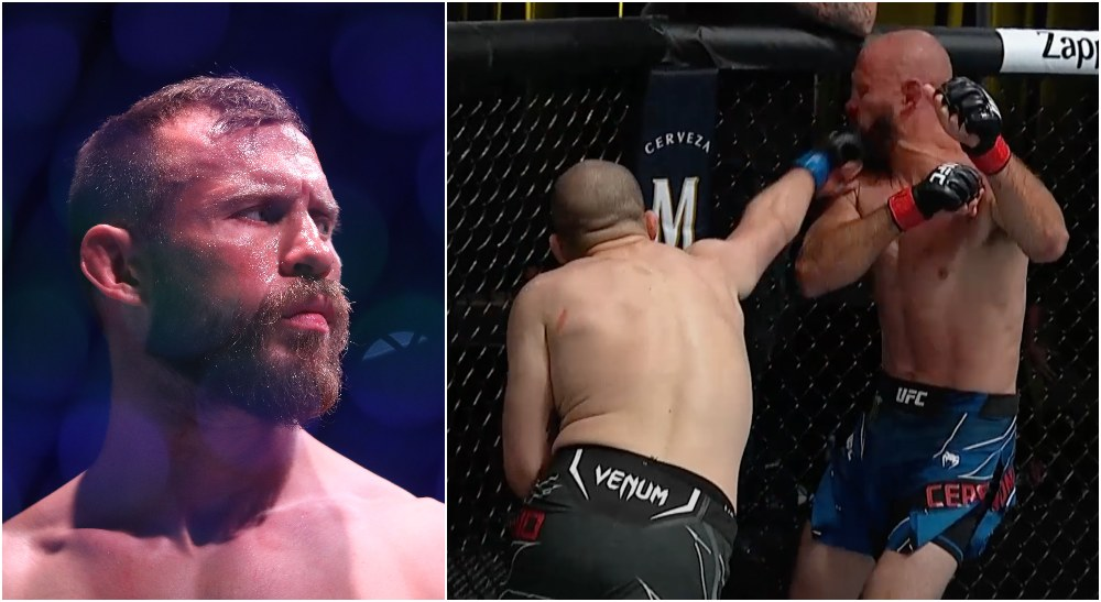Donald Cerrone Alex Morono UFC Las Vegas 26 (© Mark J. Rebilas-USA TODAY Sports)