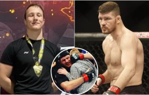 Callum and Michael Bisping © David McIntyre-USA TODAY Sports