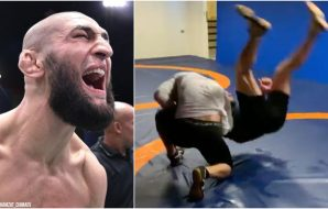 Khamzat Chimaev UFC MMAnytt Training Screenshot (Instagram @Khamzat_Chimaev)