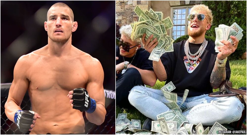 UFC Sean Strickland Jake Paul (© Jason Silva-USA TODAY Sports + Instagram @JakePaul)