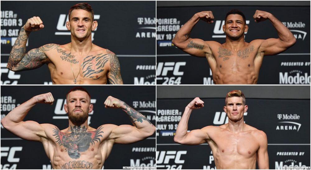 UFC 264, Conor McGregor, Dustin Poirier, GIlbert Burns, Stephen Thompson