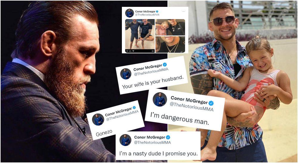 UFC Conor McGregor Dustin Poirier (Instagram @TheNotoriousMMA + @DustinPoirier)