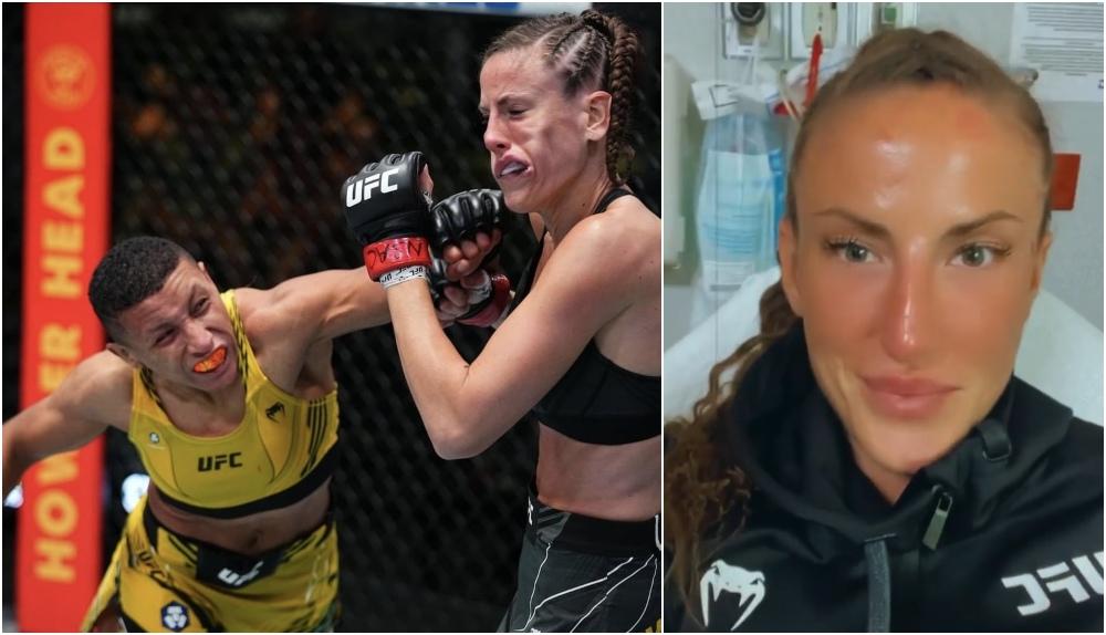 Bea Malecki skickar glad hälsning från sjukhuset – efter knockoutförlusten