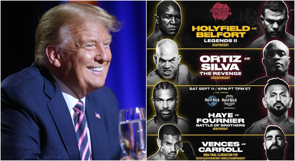 Donald Trump Triller Evander Holyfield Vitor Belfort (© Michael Chow_The Republic via Imagn Content)