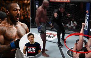 Oblique kicks Matias Andres MMAnytt Khalil Rountree Modestas Bukauskas UFC Vegas (Per Haljestam-USA TODAY Sports)