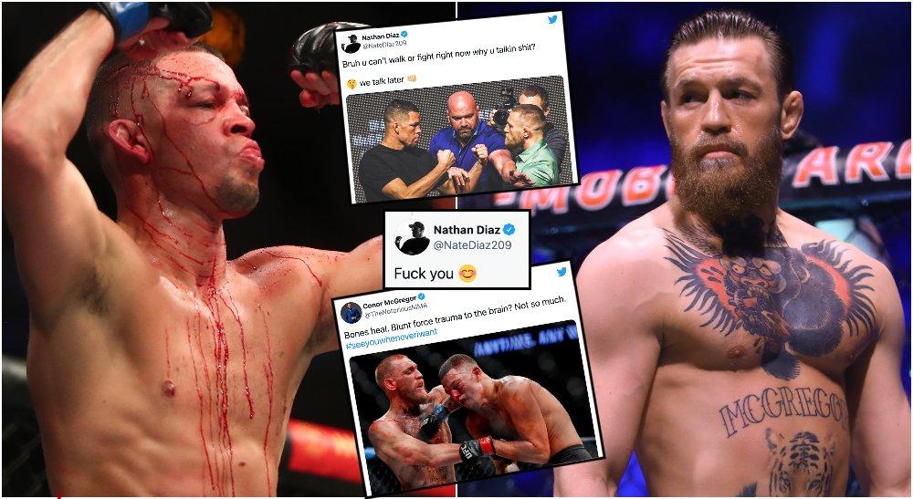 Nate Diaz Conor McGregor MMAnytt UFC (© Mark J. Rebilas-USA TODAY Sports)