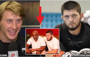 Paddy Pimblett Khabib Nurmagomedov (UFC YouTube Screenshot + Instagram @Khabib_Nurmagomedov)