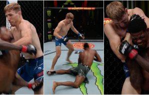 MMAnytt UFC Vegas 38 Kevin Holland Kyle Daukaus (UFC Screenshot)